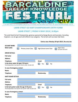 Barcaldine Tree of Knowledge Festival - Lamb Street Go Kart Nomination Form